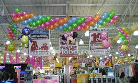 Globos decoracion con globos para fiestas mister globo gas for Decoracion de supermercados