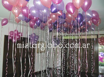 tnel de globos con gas helio para ingresos al saln